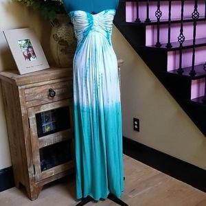 New Sky Tie - Dye Strapless Maxi Dress - SZ S